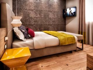 Rendering 3d : Contract Camere Alberghi Camera da letto moderna di Pasquale De Angelis Moderno