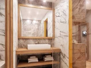 Rendering 3d : Contract Camere Alberghi Bagno moderno di Pasquale De Angelis Moderno