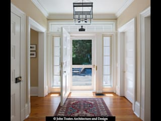 Family Entry John Toates Architecture and Design Classic style corridor, hallway and stairs White