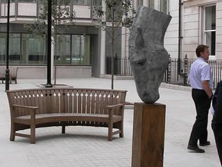 Oak Outdoor Furniture for public spaces:   by Gaze Burvill