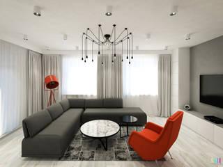 Słoneczne Bielany: styl , w kategorii Salon zaprojektowany przez Kolorum Projektowanie Wnętrz