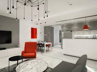 Słoneczne Bielany: styl , w kategorii Jadalnia zaprojektowany przez Kolorum Projektowanie Wnętrz