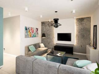 Z widokiem na zalew: styl , w kategorii Salon zaprojektowany przez Kolorum Projektowanie Wnętrz