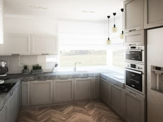 Klimatyczny dom: styl , w kategorii Kuchnia zaprojektowany przez Kolorum Projektowanie Wnętrz