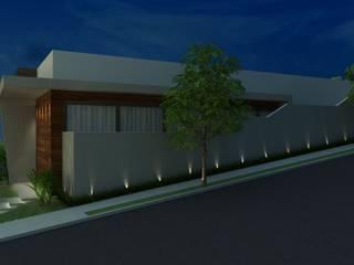 Residência em condomínio: Casas  por Marcela Matos Arquitetura e Interiores,Moderno
