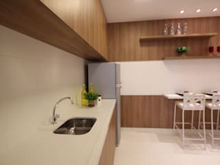 Pricila Dalzochio Arquitetura e Interiores Cocinas modernas Madera Acabado en madera