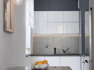 Mieszkanie 45m2 Nowoczesna kuchnia od BIZZON ARCHITEKTURA WNĘTRZ Nowoczesny