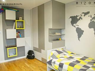 Pokój Nastolatka Minimalistyczny pokój dziecięcy od BIZZON ARCHITEKTURA WNĘTRZ Minimalistyczny