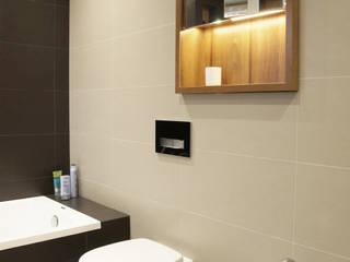 Łazienka 8m2 Minimalistyczna łazienka od BIZZON ARCHITEKTURA WNĘTRZ Minimalistyczny