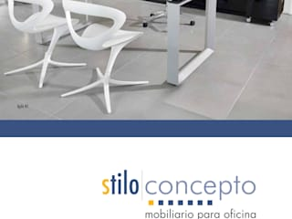 Stilo Concepto Office spaces & stores Gỗ-nhựa composite Wood effect