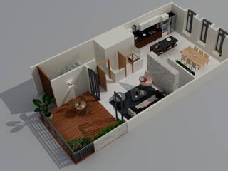 Citlali Villarreal Interiorismo & Diseño Balcon, Veranda & Terrasse modernes