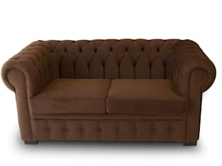 Chesterfield Marron de Coffee Meuble:  de style  par Coffee Meuble