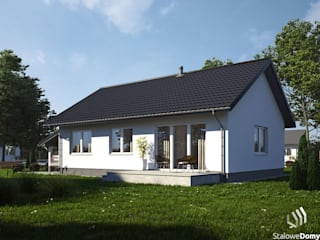 SD5 perspektywa ogrodowa: styl , w kategorii  zaprojektowany przez Stalowe Domy