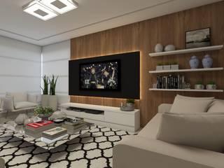 Interiores : Salas multimídia  por Barbara Lourenci Arquitetura e Interiores
