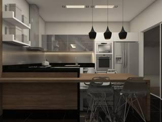 Interiores: Cozinhas  por Barbara Lourenci Arquitetura e Interiores