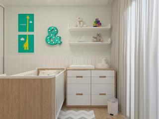 Interiores: Quarto infantil  por Barbara Lourenci Arquitetura e Interiores