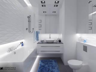 BLISKO NIEBA Minimalistyczna łazienka od Ludwinowska Studio Architektury Minimalistyczny