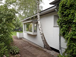 kleinOud brandt+simon architekten Modern houses Wood White