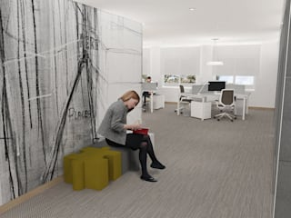 Business| interior design architecture Espaces de bureaux modernes par IDesign.art by Paula Gouveia Moderne