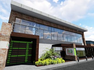 Ghalmaca Arquitectura Industriële garage Gewapend beton Bruin