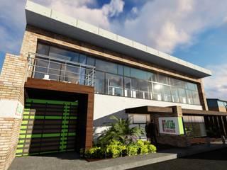 Ghalmaca Arquitectura Industriële garage Beton Bruin