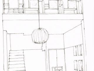 Pasillos y recibidores de estilo  por A3 Ateliê Academia de Arquitectura