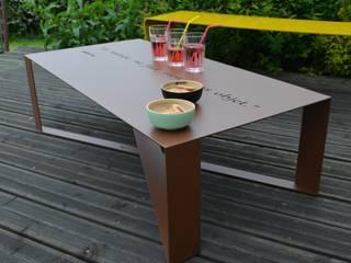 TABLE BASSE T-STEEL HAPPINESS par ID DE STYLE Scandinave