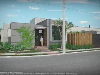 Esquina contemporânea Casas modernas por Studio TrêsD Design & Projetos Moderno