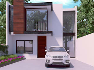 homify Modern houses Iron/Steel White