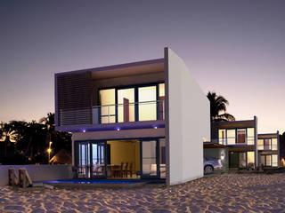 VILLAS TELCHAC: Casas de estilo  por MUTAR Arquitectura