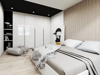 Quartos minimalistas por FOORMA Pracownia Architektury Wnętrz Minimalista