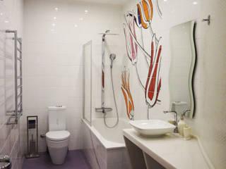 Квартира 114 м2 в эклектичном стиле: Ванные комнаты в . Автор – Надежда Лашку