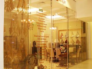 """Шоу Рум американской мебели в ТЦ """"Времена года"""" 40 м2: Гостиная в . Автор – Надежда Лашку"""