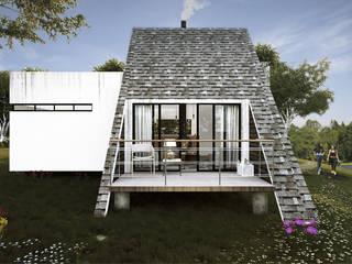 Skandinavischer Balkon, Veranda & Terrasse von FERAARQUITECTOS Skandinavisch