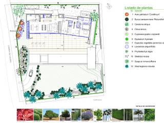 Plano de Plantación y Detalle de las especies:  de estilo  de Paisajismo Digital