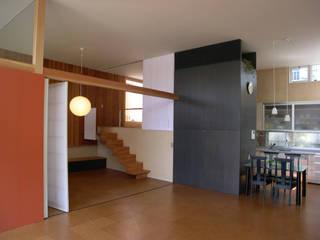 松本剛建築研究室 Living room Wood Wood effect
