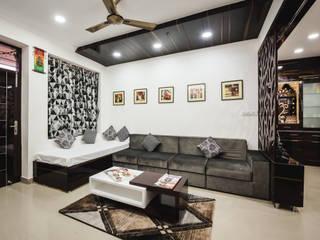 Interiors of Apartment at Parsvnath City Jodhpur Modern living room by HGCG Architects Modern