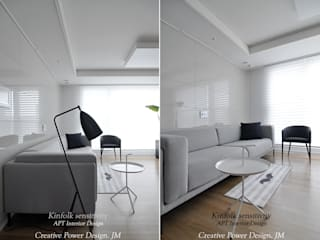 Salas multimedia de estilo moderno de JMdesign Moderno