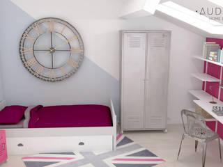 Chambre d'adolescente esprit Londres:  de style  par AUDELIA HOME DESIGN
