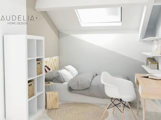 Chambre d'adolescente esprit scandinave:  de style  par AUDELIA HOME DESIGN