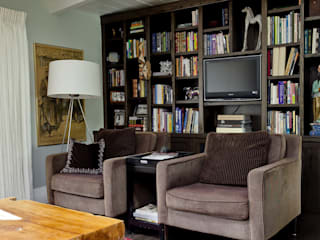 Wagon Trail:  Media room by Andrea Schumacher Interiors