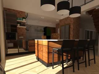 Projekt Kuchni - Przylep - Zielona Góra: styl , w kategorii Kuchnia zaprojektowany przez KADA WNĘTRZA S.C.