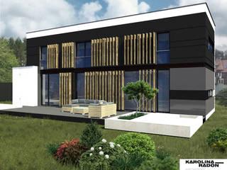 FAMILY HOUSE DESIGN IN WROCLAW: styl , w kategorii Domy zaprojektowany przez Karolina Radoń Design