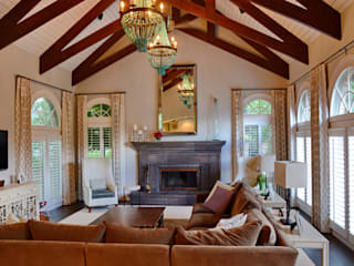 Cherry Hills Charmer:  Living room by Andrea Schumacher Interiors
