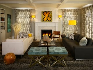 Cherry Creek Home:  Living room by Andrea Schumacher Interiors