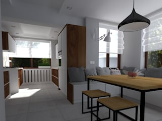 Projekt Kuchni - Zielona Góra: styl , w kategorii Kuchnia zaprojektowany przez KADA WNĘTRZA S.C.