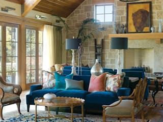 Renovation Remodel:  Living room by Andrea Schumacher Interiors