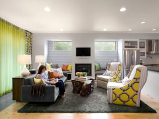 LoHi Private Residence:  Living room by Andrea Schumacher Interiors