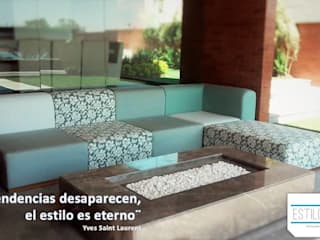 Estilo en muebles Balconies, verandas & terraces Furniture