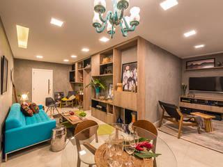 Apartamento Casal Salas de estar modernas por Viviane De Pinho Arquitetura Moderno